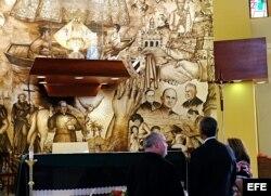Barack Obama visita la Ermita de la Caridad, en Miami.