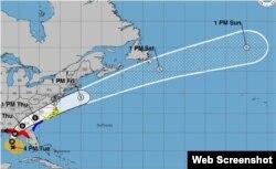 Trayectoria del huracán Michael. (NHC)