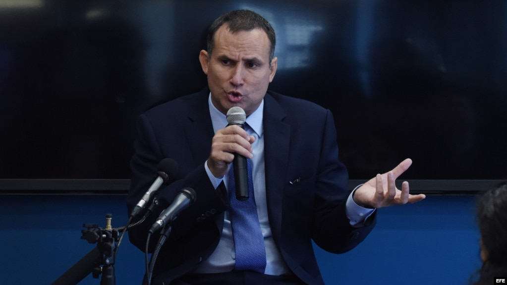 El disidente cubano José Daniel Ferrer habla durante una rueda de prensa en Washington, DC, en junio de 2016. (Archivo)