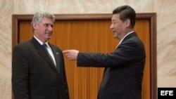 El presidente chinoMiguel Díaz-Canel, a su llegada Pekín (China) hoy, martes 18 de junio de 2013.ue se engloba en una gira por la región que le llevará a Vietnam y Laos. EFE/Ed Jones