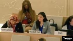 Rosa María Payá interviene en el Consejo de Derechos Humanos de la ONU.