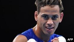Robeisy Ramírez en las finales de las Olimpíadas de Río de Janeiro 2016. (Yuri CORTEZ / AFP)