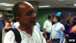 Darsi Ferrer a su llegada a Miami