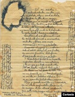 Manuscrito extraído de la cárcel.