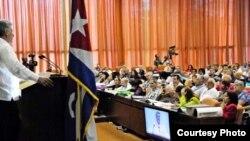 Miguel Díaz-Canel clausuró el 9no Congreso de la UPEC.