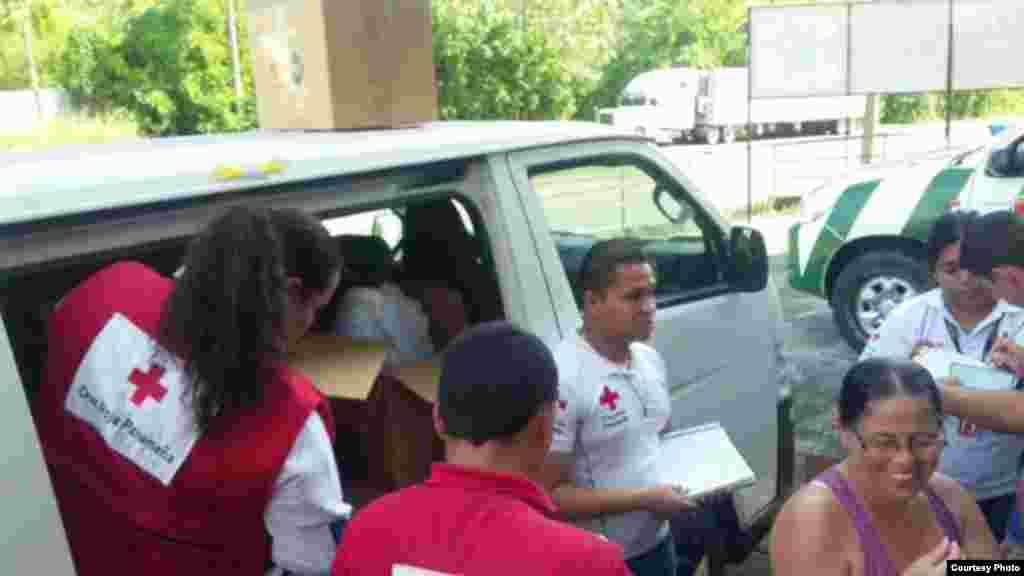 Cruz Roja de Panamá lleva ayuda a los cubanos en Chiriquí.