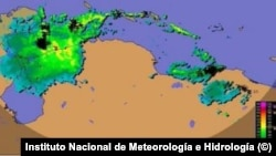 Imagen de la tormenta Karen, del Instituto Nacional de Meteorología e Hidrología.
