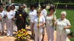 Damas de Blanco en el exilio marchan en apoyo a Damas en Cuba