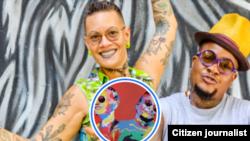 Odaymar Cuesta y Oliver Prendes: raperas, activistas por el feminismo negro, queer. Desde 1999 son Krudas Cubensi. Vivían en Cuba. Ahora en Austin, Texas.