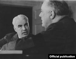 Edward R. Stettinius Jr. y el presidente Roosevelt. Foto: Biblioteca del Congreso.