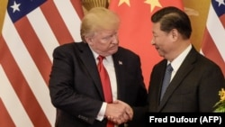 Donald Trump y Xi Jinping en Beijing en noviembre de 2017.