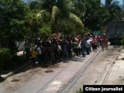Vigilancia y represión, el domingo 3 de julio. Foto: Angel Moya