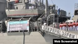 Buque de la armada mexicana con ayuda a Cuba
