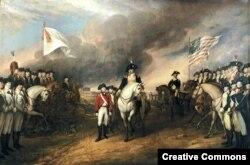 """""""Capitulación de Cornwellis en Yorktown"""", obra de John Trumbull."""