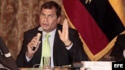 El reelecto presidente de Ecuador, Rafael Correa.