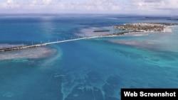 Vista de Islamorada, uno de los cayos de la Florida.