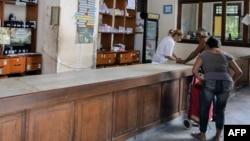 Una farmacia en La Habana.