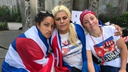 """Mientras usted decide, Cuba muere"""", dicen cubanas en huelga de hambre  frente a sede de ONU en Nueva York (VIDEO)"""