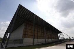 Vista del estadio Arena de la Juventud, para competiciones de baloncesto y pentatlón moderno.
