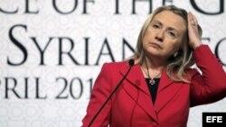 Fotografía de archivo de la secretaria de Estado estadounidense, Hillary Clinton.