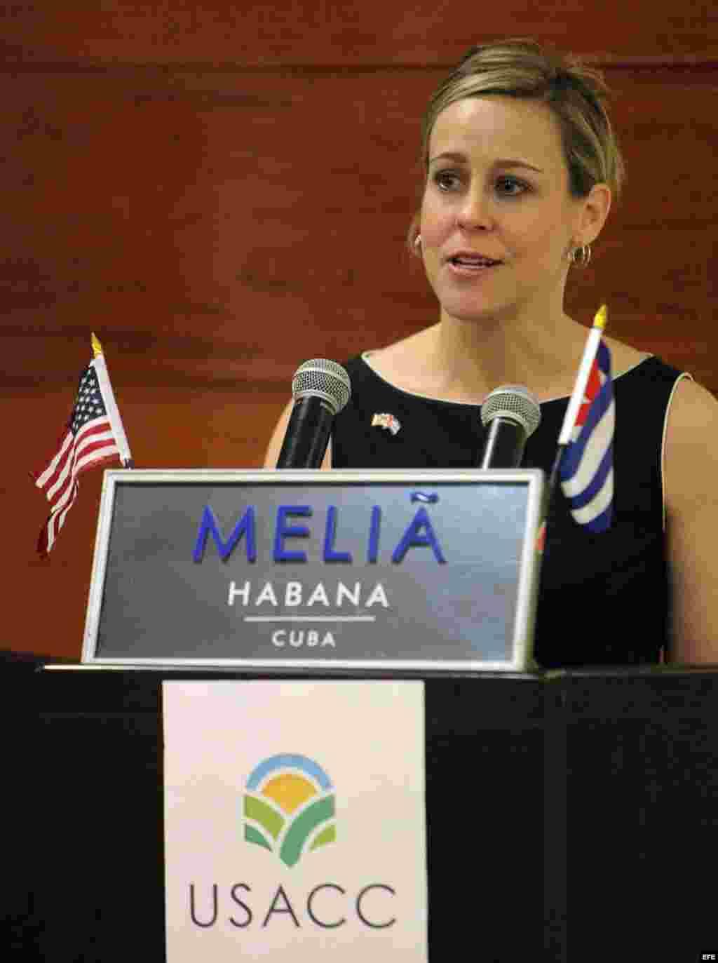 """La presidenta de la """"Coalición Agrícola de EE.UU. por Cuba"""", Devry Boughner."""