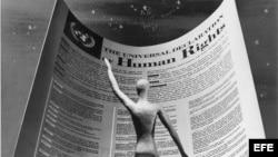 Declaración Universal de los Derechos Humanos adoptada por la Asamblea General de la ONU el 10 de diciembre de 1948, para lograr la libertad, la justicia y la paz en la sociedad.
