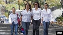 Familiares de Antonio Ledezma y María Corina en Caracas, Venezuela.