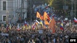 Marcha en Moscú contra la guerra en Ucrania