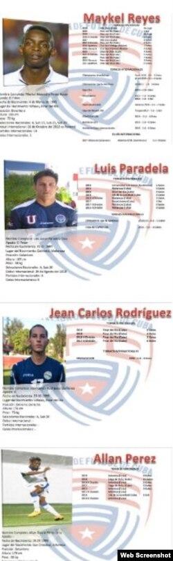 El Nuevo Blog del Fútbol cubano ubica a Paradela entre los delanteros del Equipo Cuba.