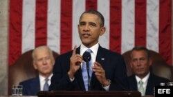 Presidente Barack Obama pronuncia discurso anual sobre el estado de la Unión