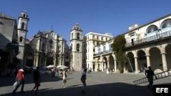 Plaza de la Catedral en La Habana.