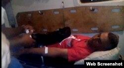 Ángel Isaac Monteagudo, en huelga de hambre es trasladado el miércoles 10 de enero de 2018 al hospital provincial en Villa Clara.