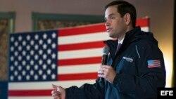 Marco Rubio, durante un acto electoral celebrado en Plymouth, Nuevo Hampshire. EFE