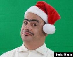 El actor Andy Vázquez en una versión navideña de su personaje de Facundo (Foto tomada de su página de Facebook).