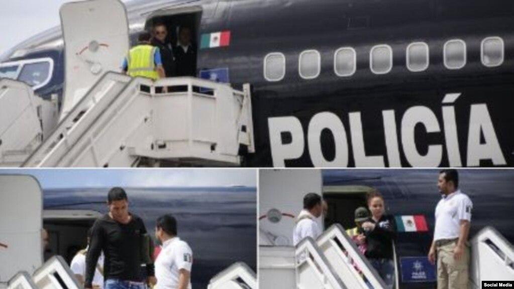 Cubanos deportados por el Instituto Nacional de Migración de México. Combinación de fotos de la Embajada de Cuba en México.