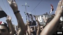 Manifestación en Egipto hoy viernes en apoyo al depuesto presidente Mohamed Mursi