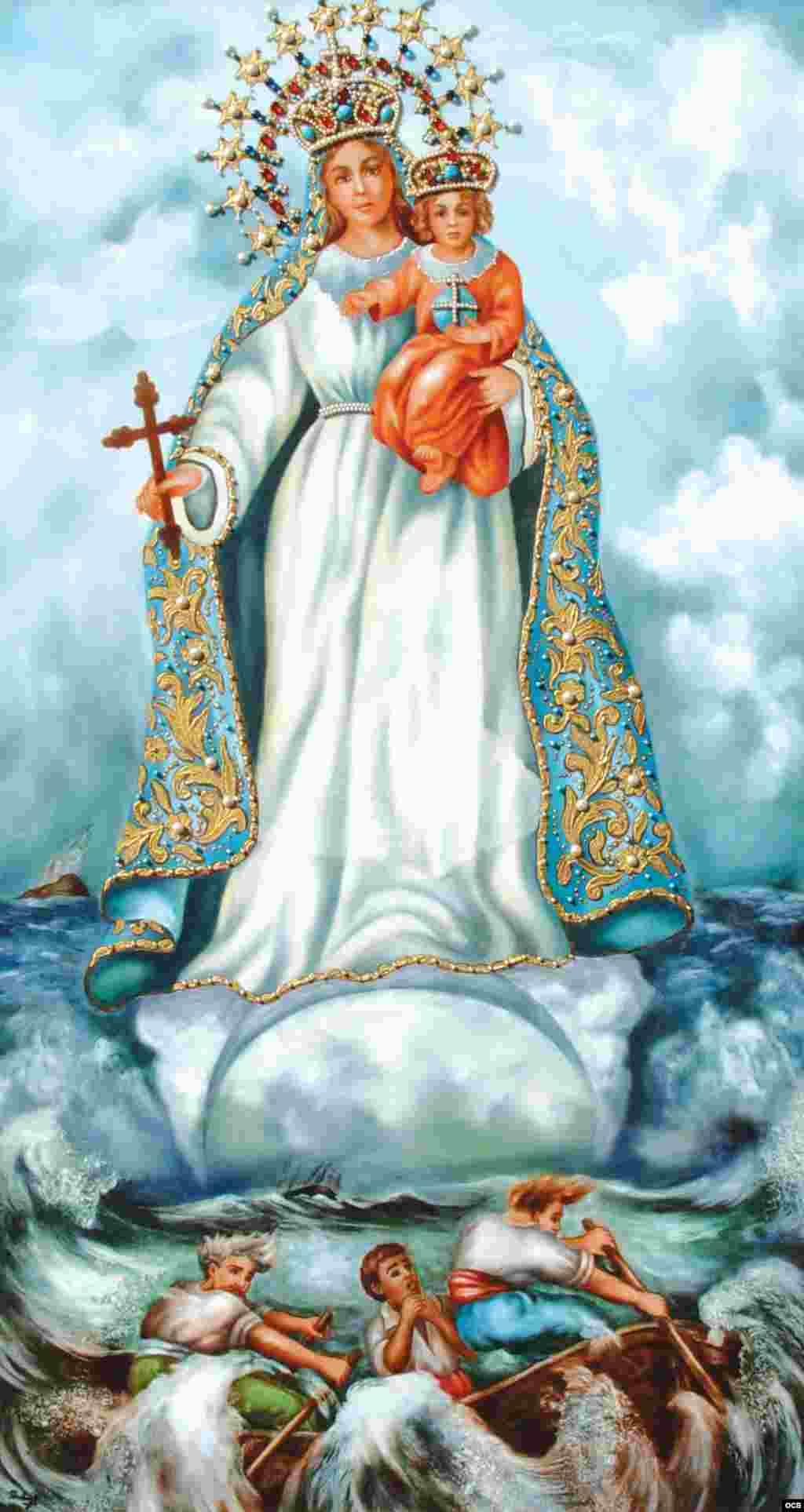 0- Virgen de la Caridad del Cobre (porcelana).