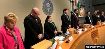 Sesión de Justicia Cuba en el Ayuntamiento de Miami
