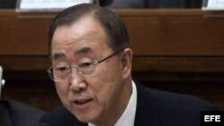 El secretario general de las Naciones Unidas, Ban Ki-moon, en foto de archivo.