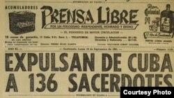 Expulsión de sacerdotes de Cuba.