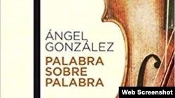 Portada del libro de Angel Gonzalez.