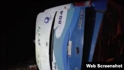 Omnibus accidentado en Guantánmo