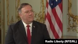 Mike Pompeo en entrevista con RFE/RL