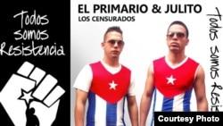 Los raperos El Primario y Julito.