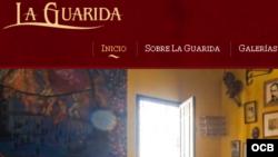 Página web del conocido paladar habanero La Guarida