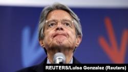 El banquero Guillermo Lasso es el presidente electo de Ecuador, tras ganar la segunda vuelta electoral el 11 de abril de 2021. REUTERS/Luisa Gonzalez.