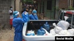 Asistencia a inmigrantes en Honduras.