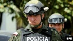 Foto de archivo de miembros de la Policía Nacional colombiana.