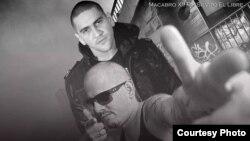 """Silvito """"EL Libre"""" y Macabro 12 en la portada del sencillo."""