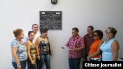 Médicos cubanos de la brigada La Ceiba en Honduras.